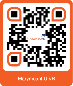 QR code for a VR video of marymount university