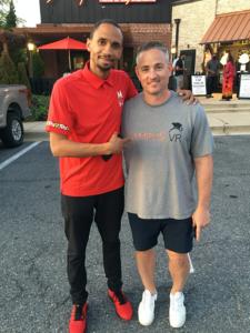 Coach Bruce Shingler with Zvi Goffer